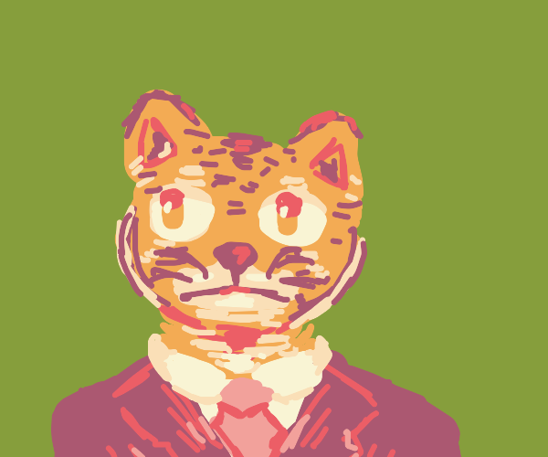 Tiger in a suit