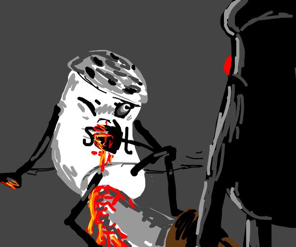 salt shaker gets stabbed