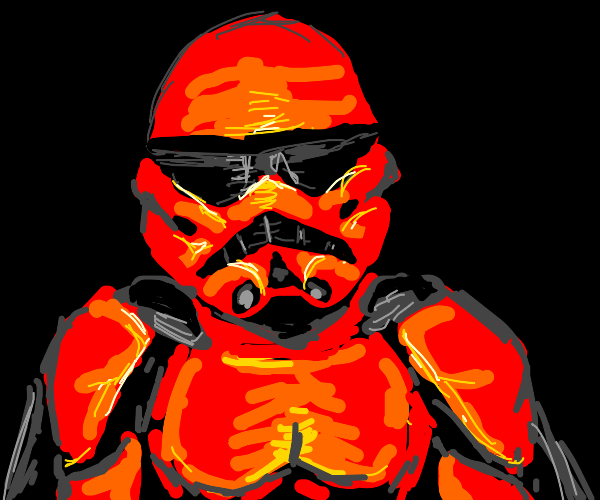 Red Storm Trooper With Black Cape