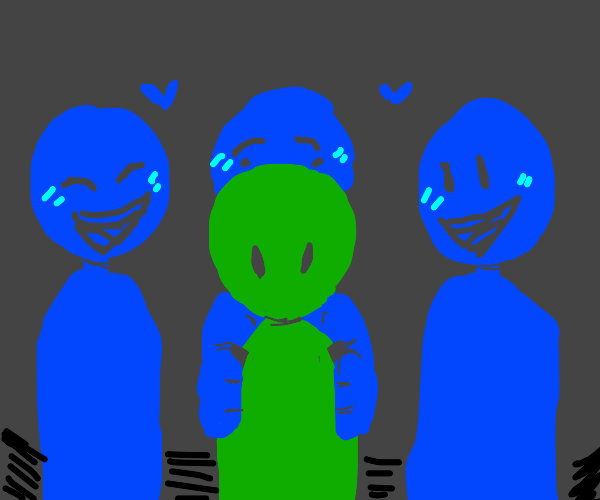 You're green but your friends are blue