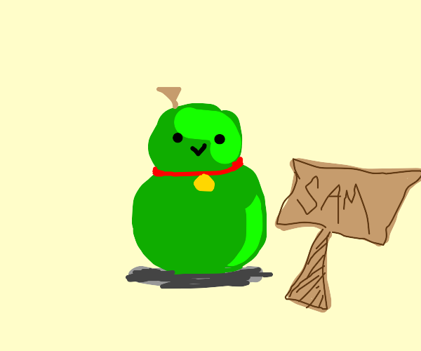 Pet pear named Sam