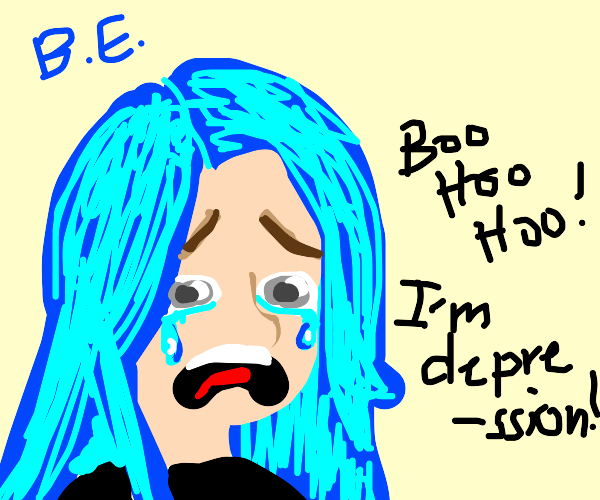 Billie Eilish is crying =(