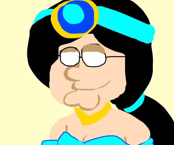 Jasmine from Aladdin with Peter Griffins face