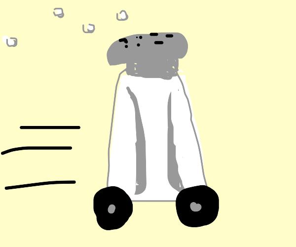 Salt shaker car