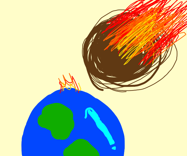 Meteor about to hit earth