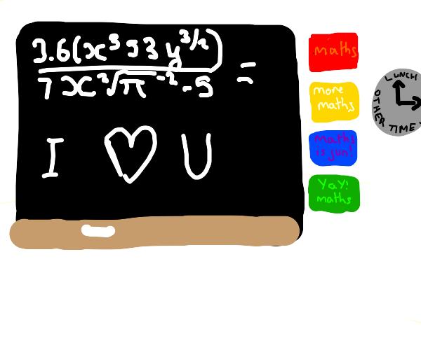 long equation simplifies to i heart u