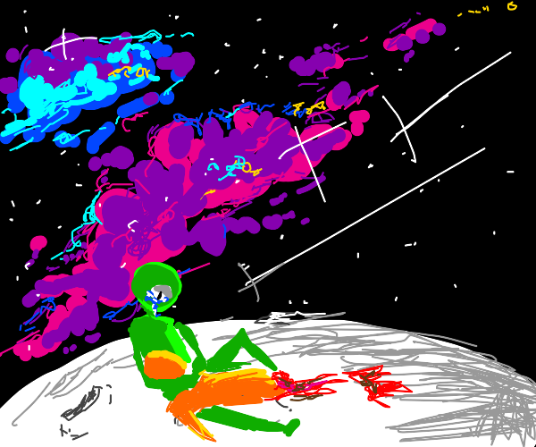 alien mourns another aliens death