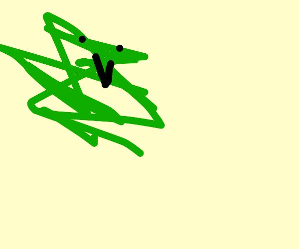 Fluffy green monster gangsta