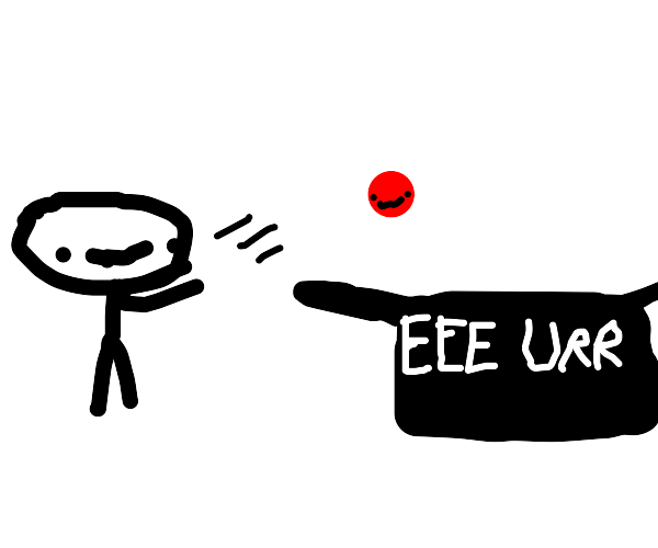 Red Ball being thrown into a box