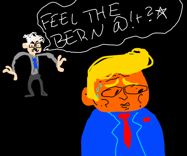 Bernie confronts Trump