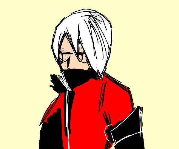 Anime demon with white hair