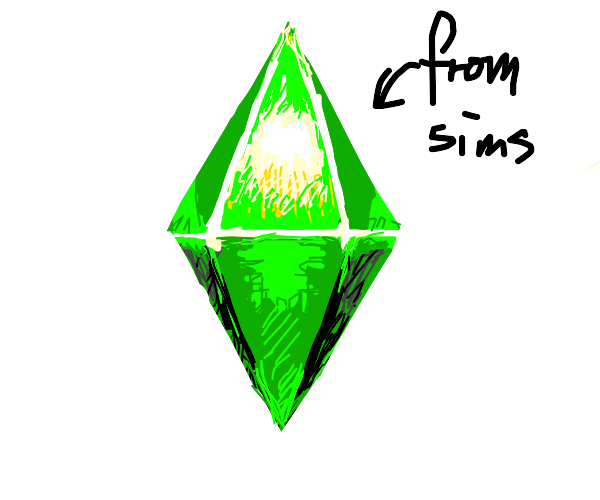 the green crystal thing from the sims
