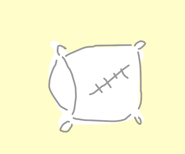pillow with stitches