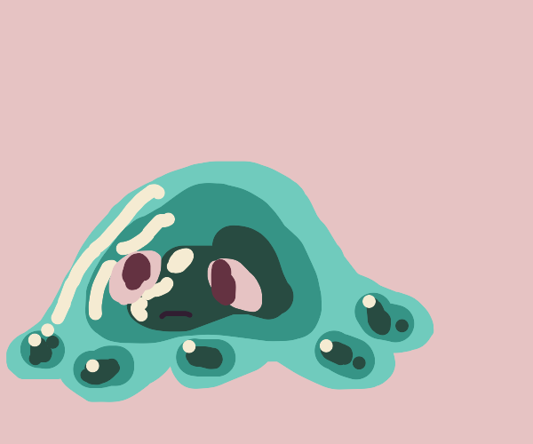 A green blob