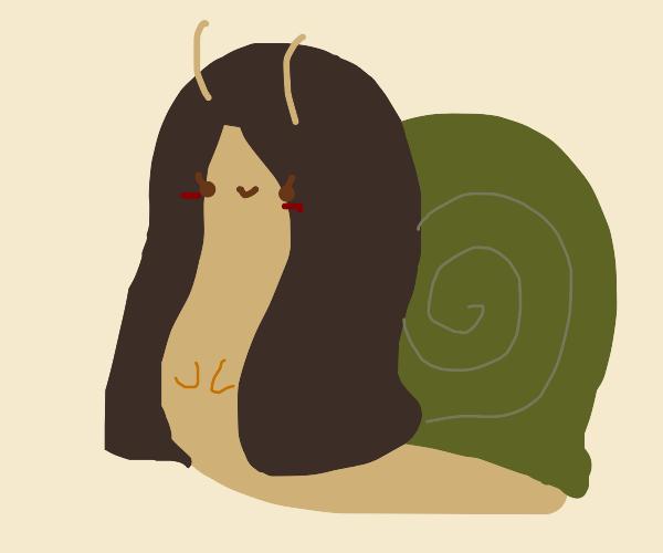 Mona Lisa, but a Snail