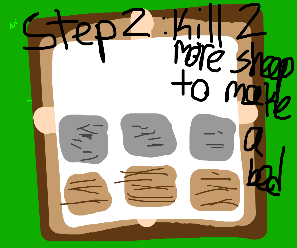 Step 1: Kill a sheep