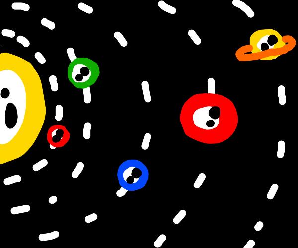 Eye solar system