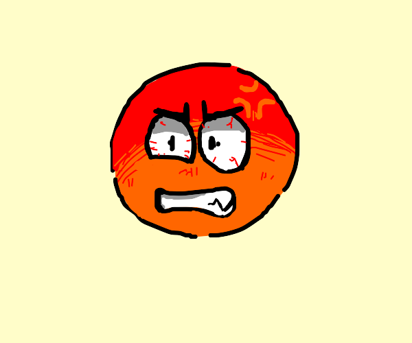 Extremely angry emoji