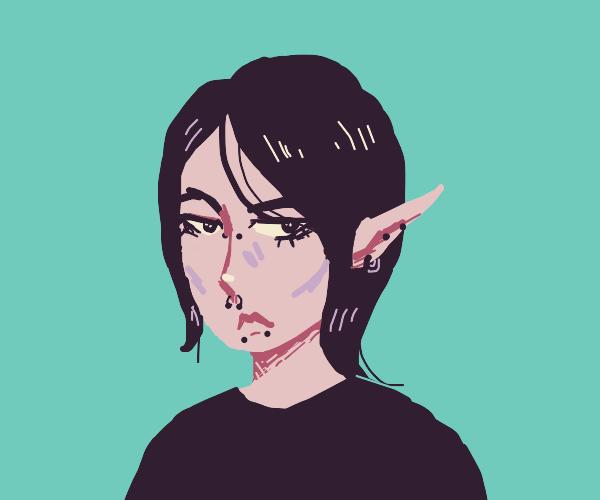 Emo Girl With Huge Ear