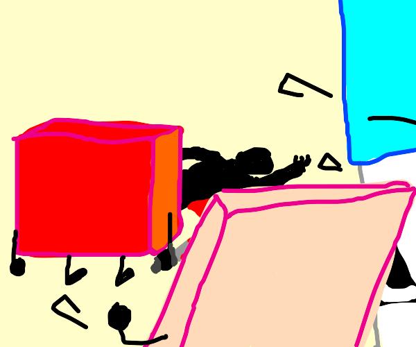 Blocky human murder