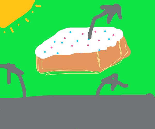 Floating cake island