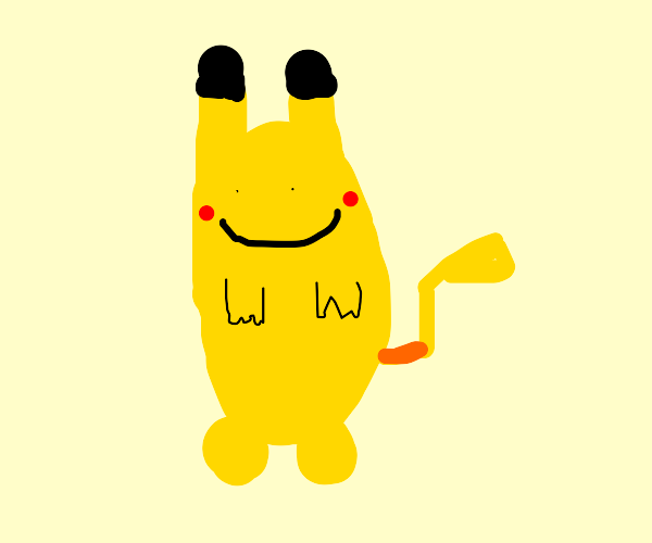 a Ditto transforms into a Pikachu