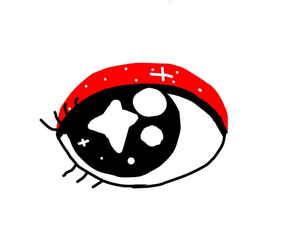 dazzled eye