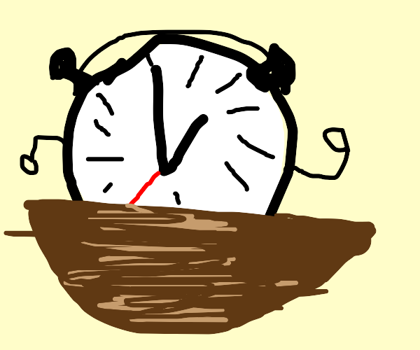 clock in a bowl