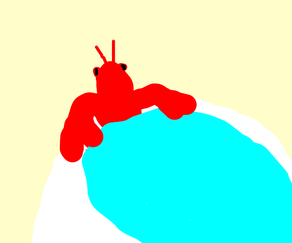 Lobster in a hottub