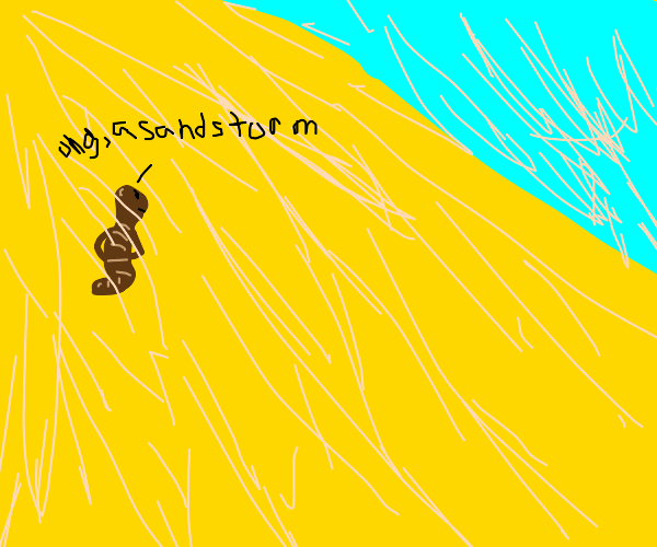 brown worm hates sandstorms