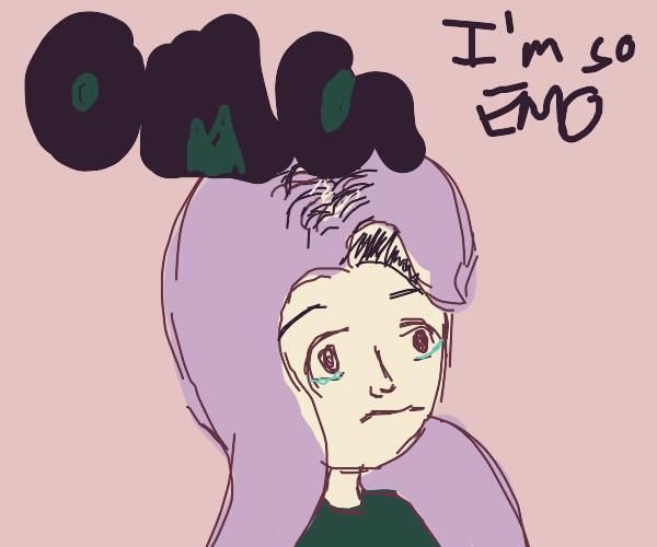 Emo girl but she isn't emo