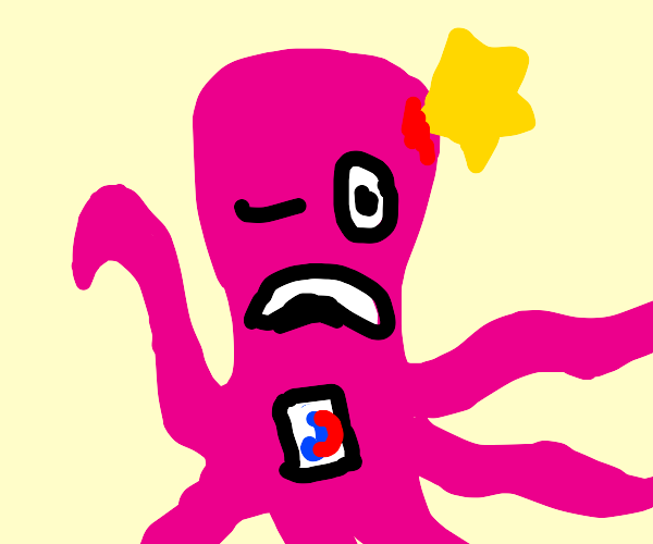 octopus stabbed by a star while on tiktok