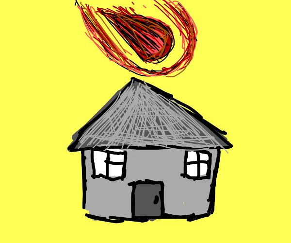 Meteor flies over my house