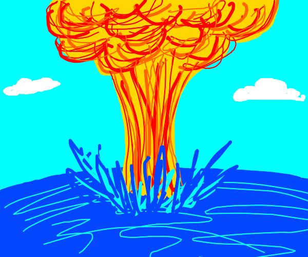 nuclear bomb in the ocean