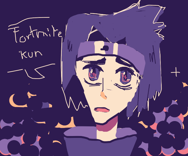 Sasuke speaks to Fortnite-kun