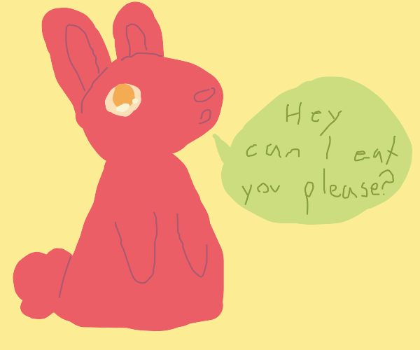 Rabbit asks if he can eat you