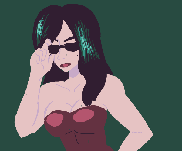 Woman with sunglasses