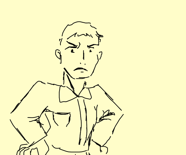 A displeased man