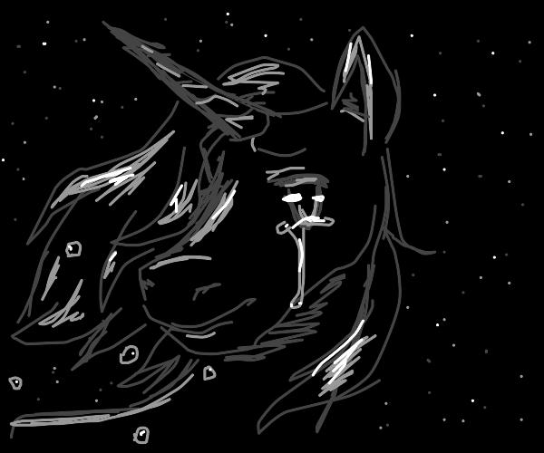 Unicorn crying