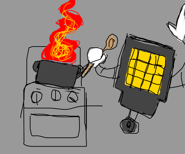 Cooking with a TV