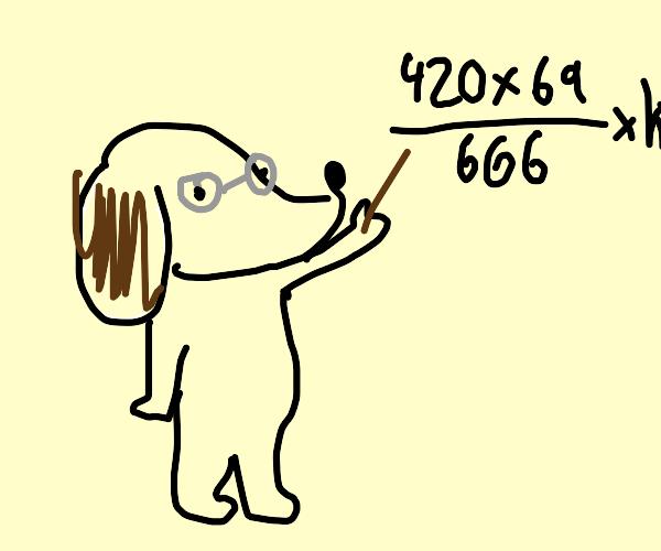 slenderman doing sick math like a boss