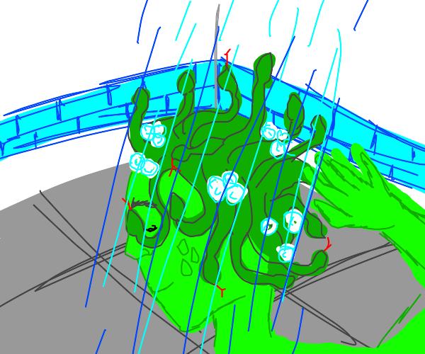 medusa showering