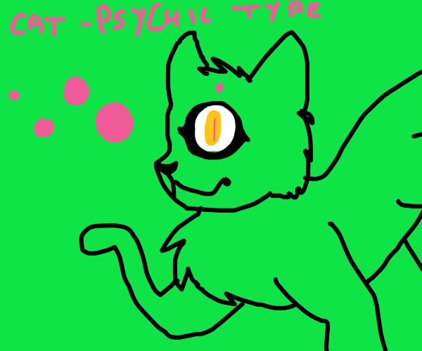 Green cyclops cat