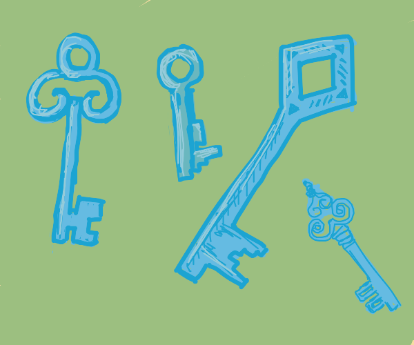 A confusing assortment of odd keys.