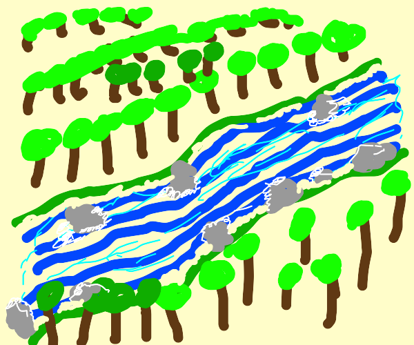 A Forest With a Giant River