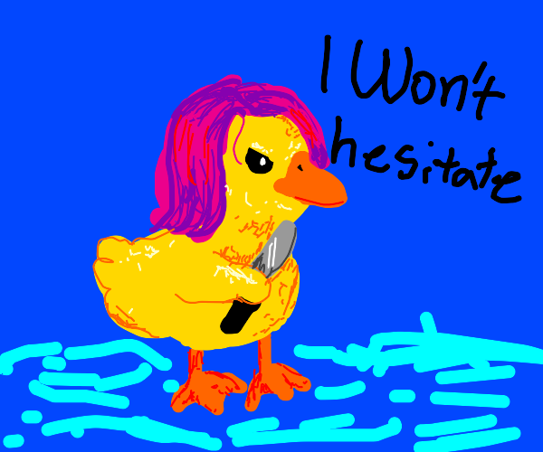 Murderous Duck with Wig