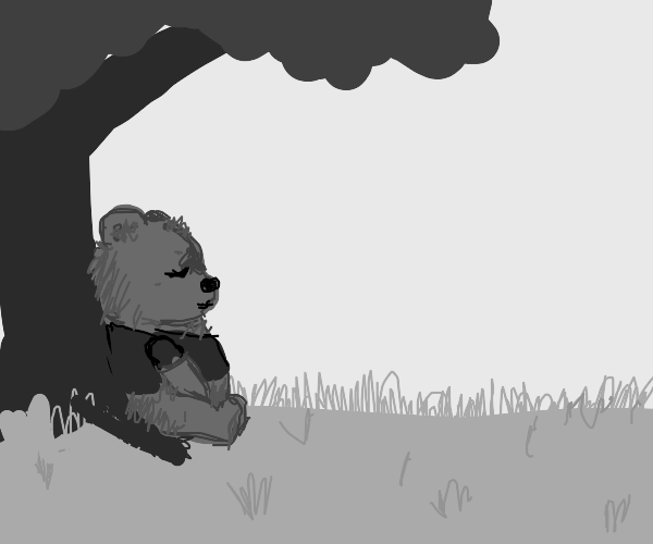 Sleeping Winnie the Pooh.