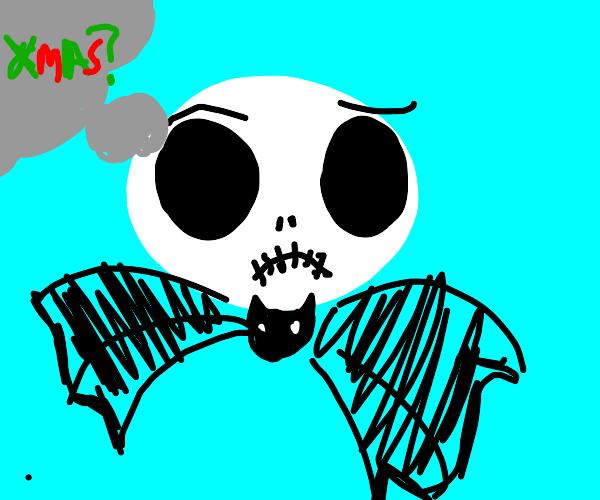 Skeleton wonders what Christmas is
