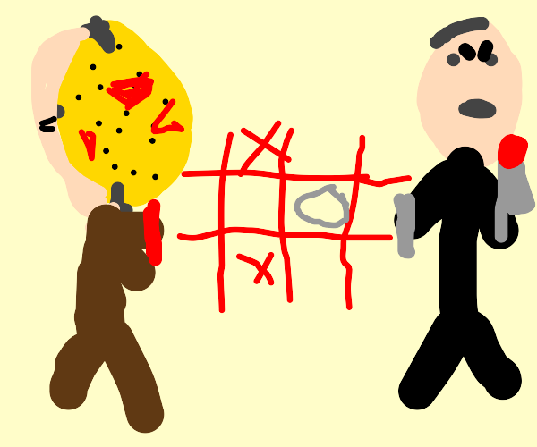 Jason and other murderers playing tic tac toe
