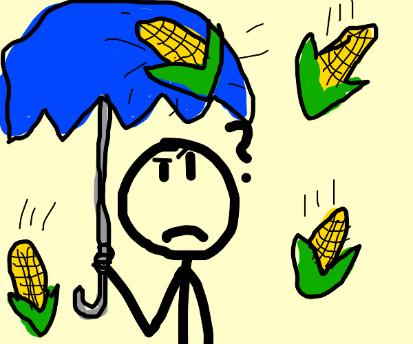 Today it is raining corn